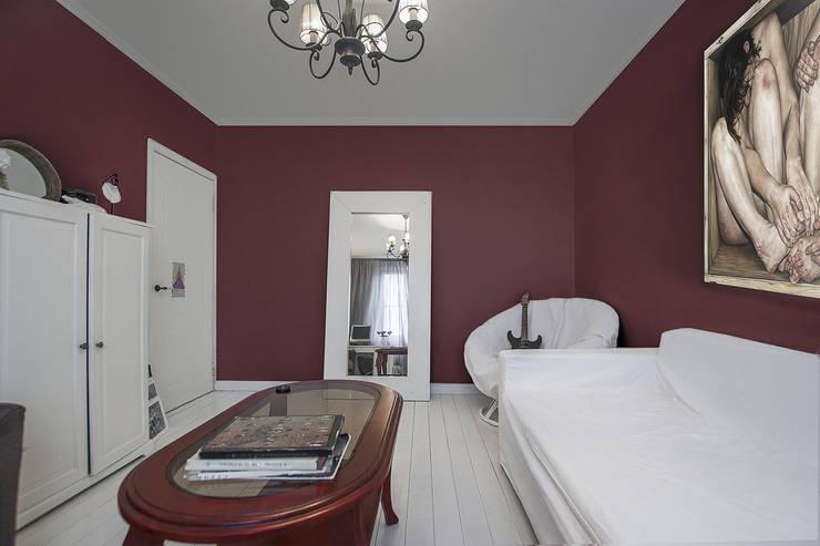 Спальня в скандинавском стиле.:  в . Автор – студия Дизайн Квадрат