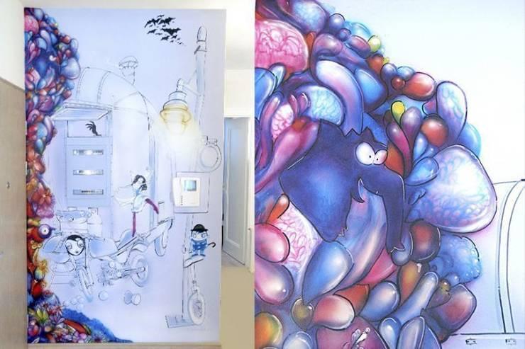 Murale: styl , w kategorii Sztuka zaprojektowany przez Pracownia Projektowa Hanna Kłyk