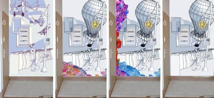 Projekt muralu: styl , w kategorii Sztuka zaprojektowany przez Pracownia Projektowa Hanna Kłyk