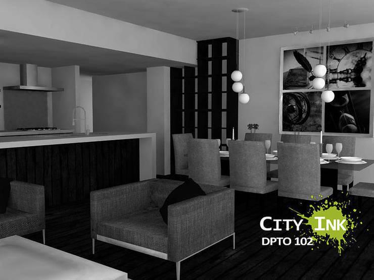 Comedor:  de estilo  por City Ink Design