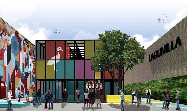 Intervención urbana de la plaza del Metro Lagunilla:  de estilo  por City Ink Design