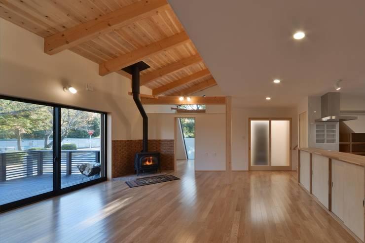 LDK: 若山建築設計事務所が手掛けたリビングです。