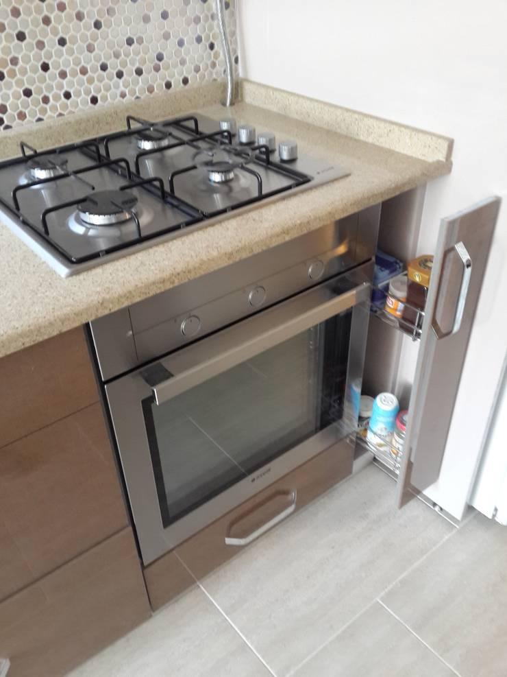 izmir mutfak dekorasyon  – Keten dokulu  krem,kahve 3:  tarz Mutfak