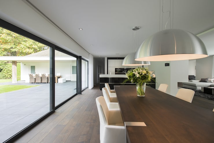 modern Dining room by Lab32 architecten