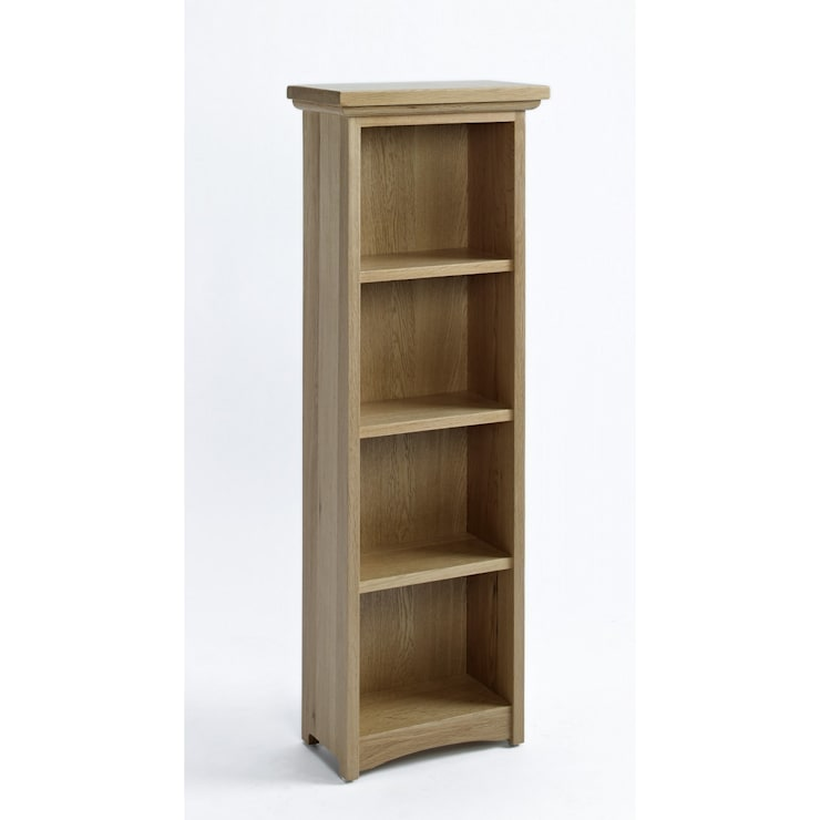 Carefully crafted solid Sherwood Oak DVD/CD Cabinet With 3 Shelves - 3 Shelves: colonial Living room by Bonsoni.com