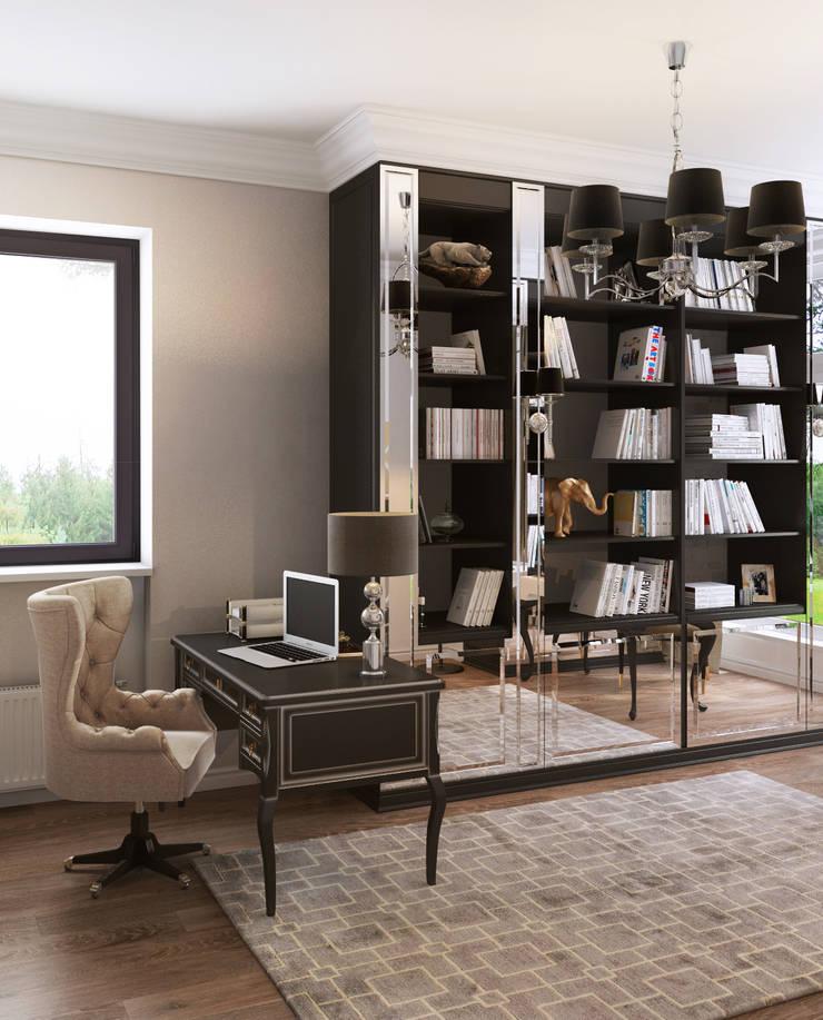 Дом Millennium-park, 420 м²: Рабочие кабинеты в . Автор – Bronx,
