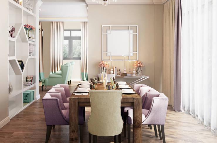 Sala da pranzo in stile in stile Eclettico di Bronx