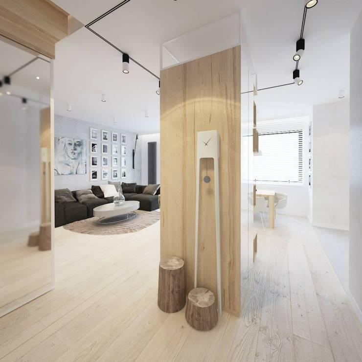 Projekt mieszkania we Wrocławiu: styl , w kategorii Korytarz, przedpokój zaprojektowany przez COI Pracownia Architektury Wnętrz,Nowoczesny