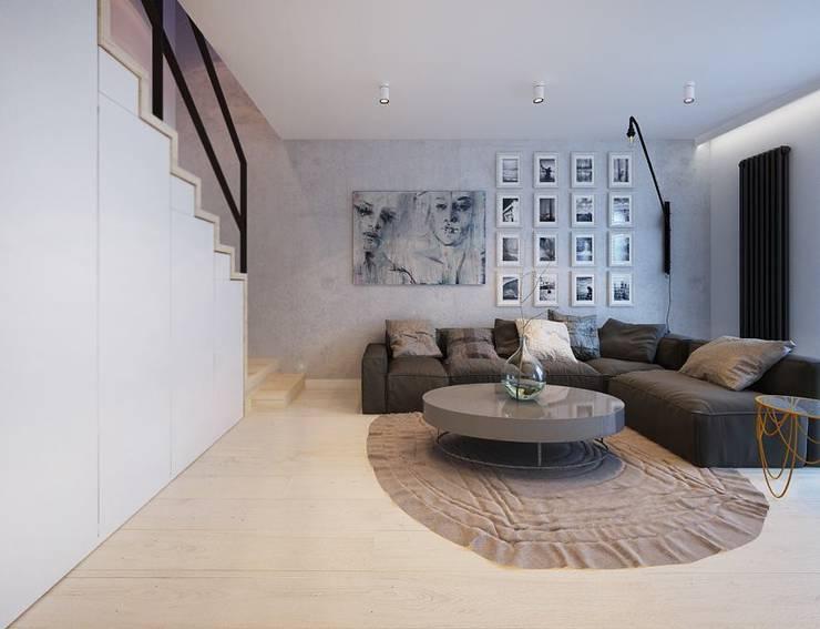 Projekt mieszkania we Wrocławiu: styl , w kategorii Salon zaprojektowany przez COI Pracownia Architektury Wnętrz,Nowoczesny