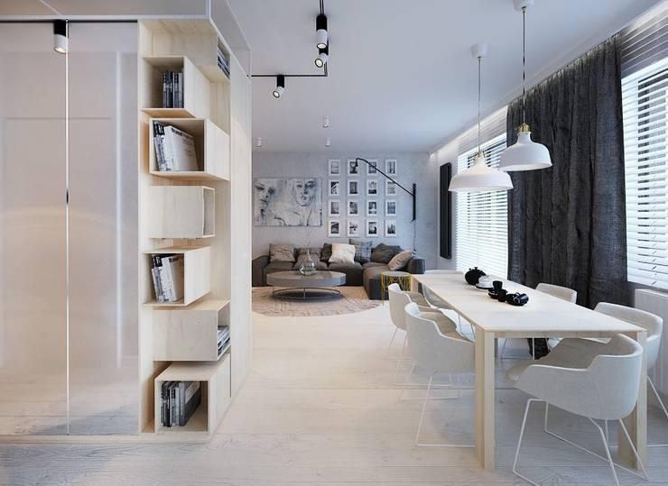 Projekt mieszkania we Wrocławiu: styl , w kategorii Jadalnia zaprojektowany przez COI Pracownia Architektury Wnętrz,Nowoczesny