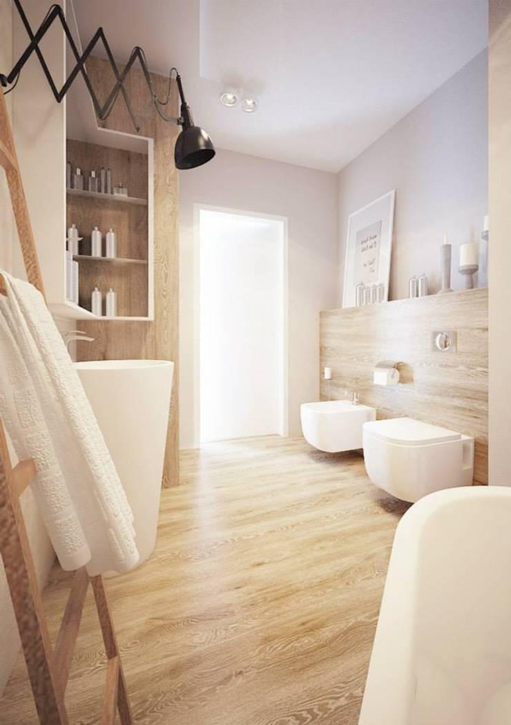 Projekt mieszkania we Wrocławiu: styl , w kategorii Łazienka zaprojektowany przez COI Pracownia Architektury Wnętrz,Nowoczesny