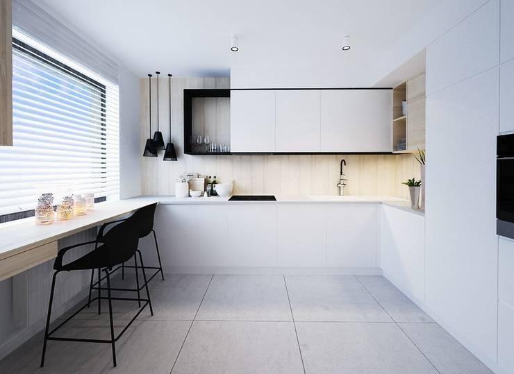 Projekt mieszkania we Wrocławiu: styl , w kategorii Kuchnia zaprojektowany przez COI Pracownia Architektury Wnętrz,Nowoczesny