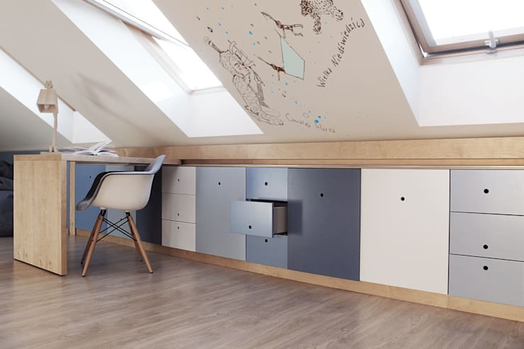 嬰兒房/兒童房 by COI Pracownia Architektury Wnętrz