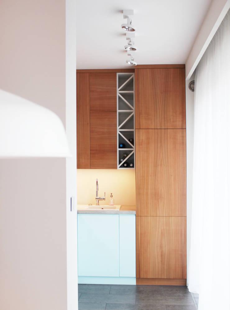 Projekt mieszkania Wrocław 2: styl , w kategorii Kuchnia zaprojektowany przez COI Pracownia Architektury Wnętrz