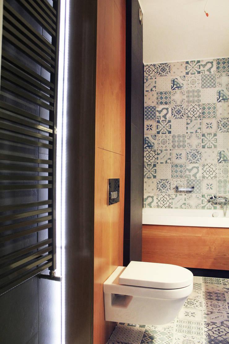 Projekt mieszkania Wrocław 2: styl , w kategorii Łazienka zaprojektowany przez COI Pracownia Architektury Wnętrz