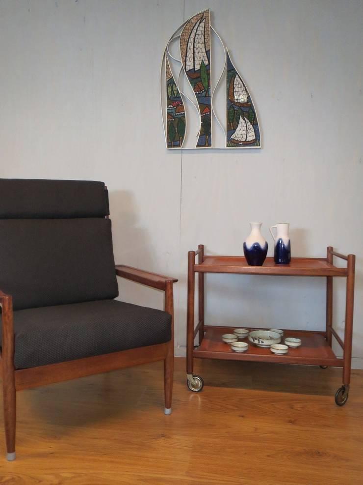Deense jaren 60 fauteuil/trolley Cees Braakman:   door Werkplaats69, Scandinavisch