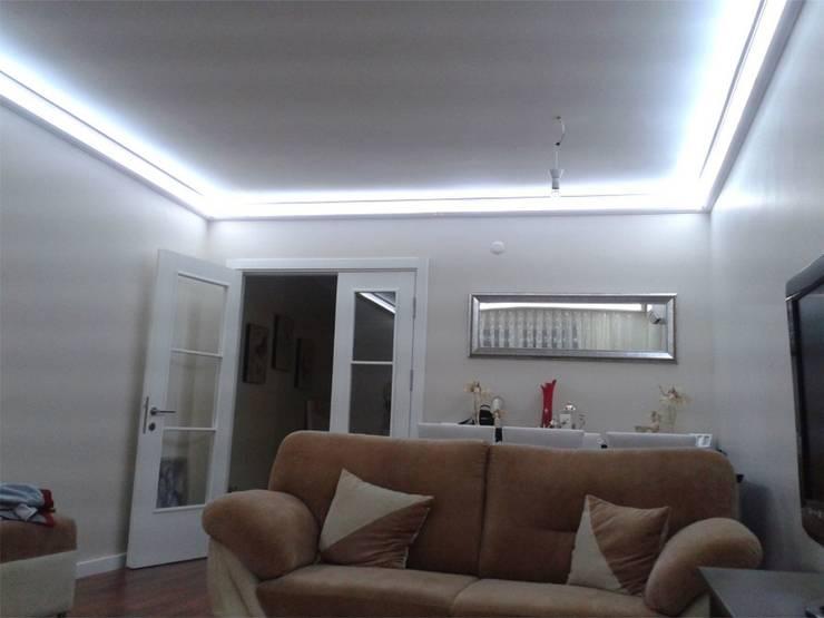 LEDPİYER – Gizli aydınlatma,dekoratif ışıklı kartonpiyer ve bordür sistemleri;beyaz ışıklı LEDPiYER:  tarz Yemek Odası