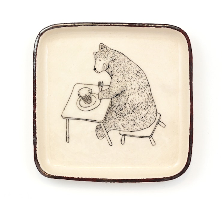 Miś na ciastko: styl , w kategorii Pokój dziecięcy zaprojektowany przez Cynamon Studio
