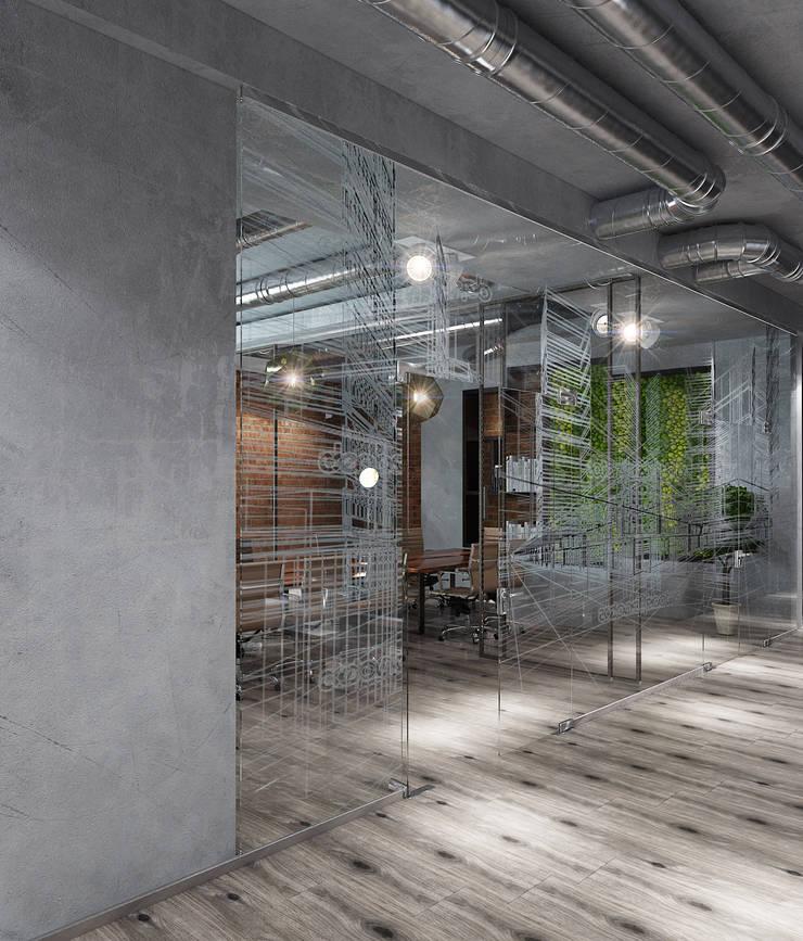 офис компании Сириус, Краснодар, 700 м²: Офисные помещения в . Автор – Bronx, Эклектичный