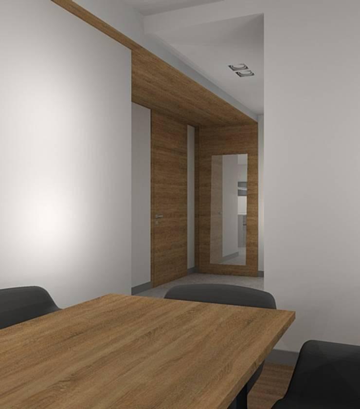 korytarz: styl , w kategorii Korytarz, przedpokój zaprojektowany przez Kraupe Studio