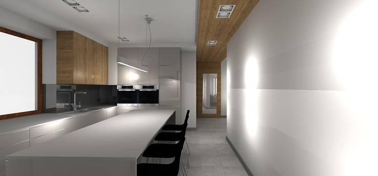 kuchnia: styl , w kategorii Kuchnia zaprojektowany przez Kraupe Studio