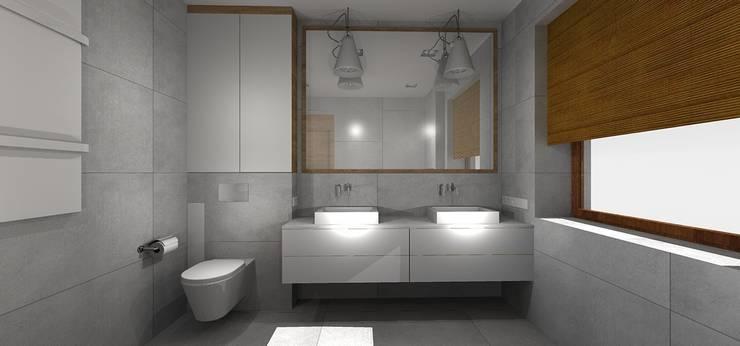 łazienka: styl , w kategorii Łazienka zaprojektowany przez Kraupe Studio