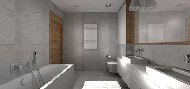 Dom pod Wrocławiem: styl , w kategorii Łazienka zaprojektowany przez Kraupe Studio