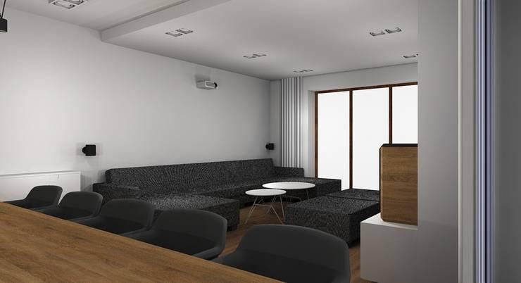 Dom pod Wrocławiem: styl , w kategorii Salon zaprojektowany przez Kraupe Studio