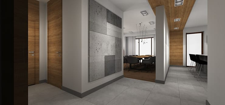 Dom pod Wrocławiem: styl , w kategorii Korytarz, przedpokój zaprojektowany przez Kraupe Studio