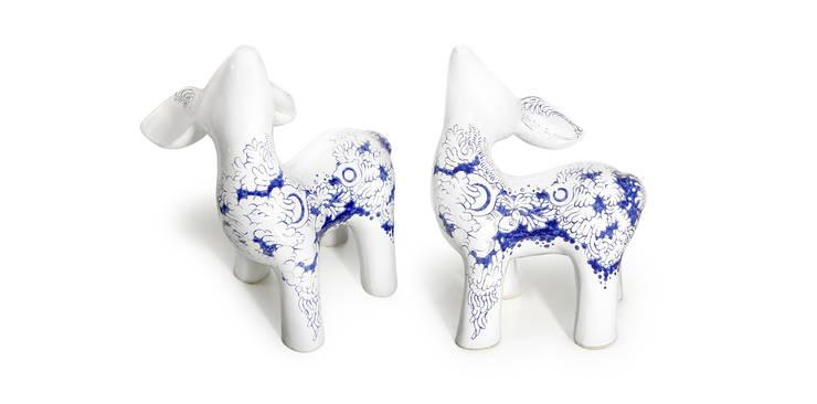 My Dear Deer Friend - Ming: styl , w kategorii Sztuka zaprojektowany przez Diploo Studio