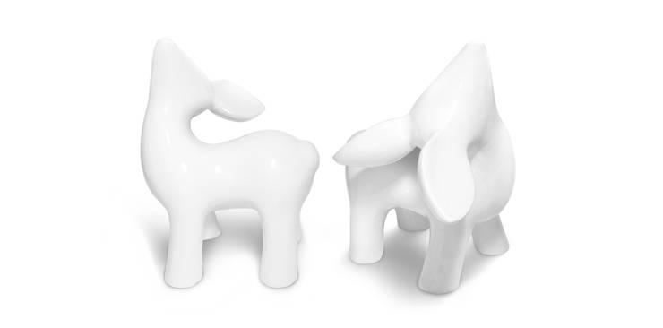 My Dear Deer Friend - Grand White: styl , w kategorii Sztuka zaprojektowany przez Diploo Studio