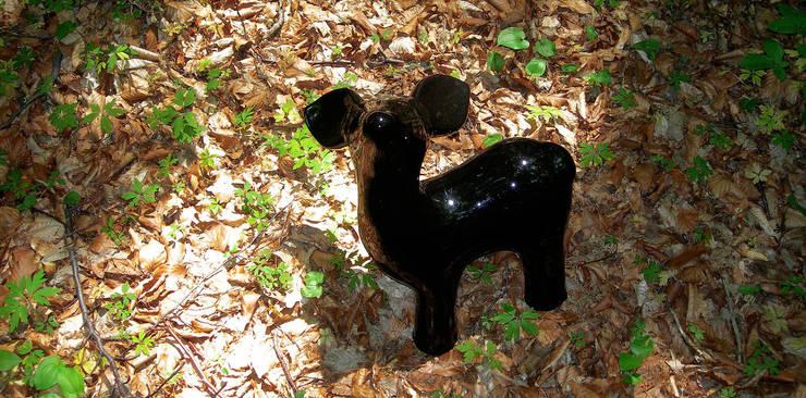 My Dear Deer Friend - Grand Black: styl , w kategorii Sztuka zaprojektowany przez Diploo Studio