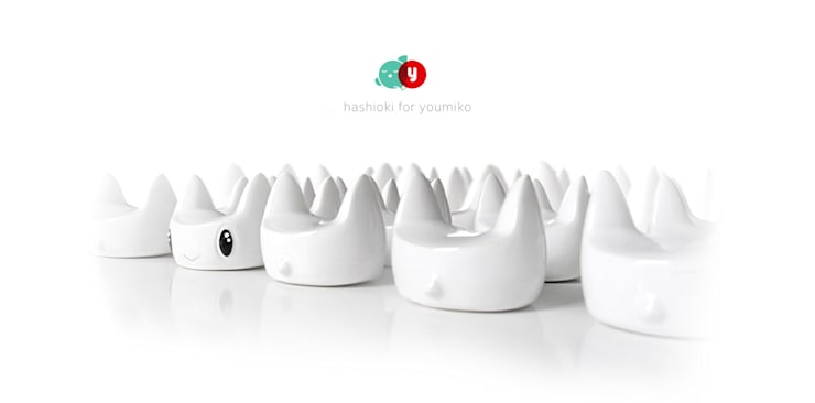 Hashioki - ceramiczne podstawki pod pałeczki do sushi.: styl , w kategorii Jadalnia zaprojektowany przez Diploo Studio,