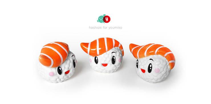 Hashioki - ceramiczne figurki kolekcjonerskie.: styl , w kategorii Sztuka zaprojektowany przez Diploo Studio,