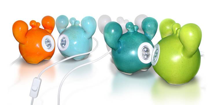 Frooties - ceramiczne lampy halogenowe.: styl , w kategorii Salon zaprojektowany przez Diploo Studio