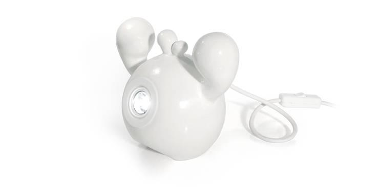 Frootie Coconut - ceramiczna lampa halogenowa.: styl , w kategorii Salon zaprojektowany przez Diploo Studio