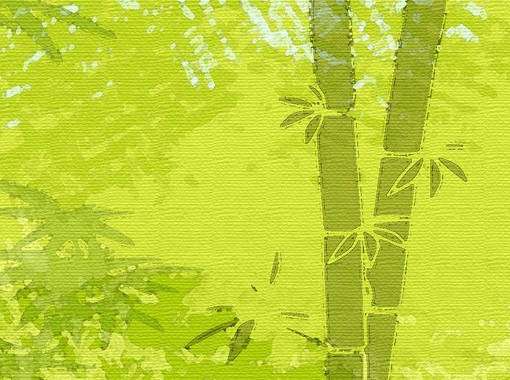 Bordüre - Bambuswald:  Wohnzimmer von Mein Bordürenladen