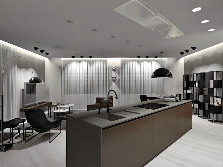 Stealth Flat: Кухни в . Автор – iPozdnyakov studio