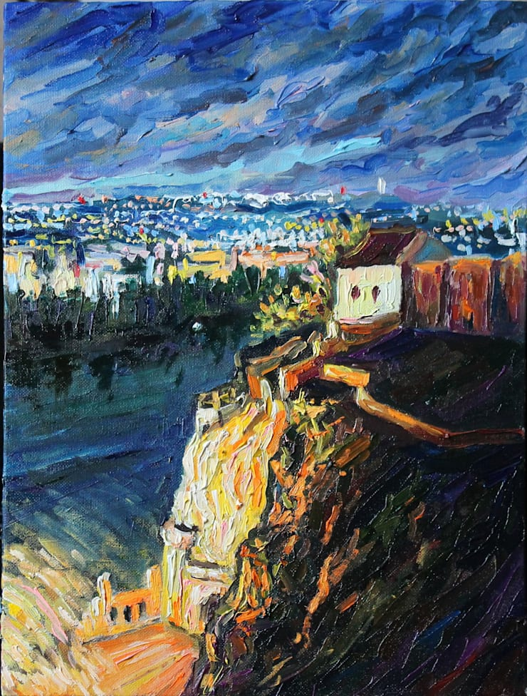 Живопись – Серия <q>Прага</q> ( Paintings – <q>Prague</q>collection): Гостиная в . Автор – Светлана Шестова