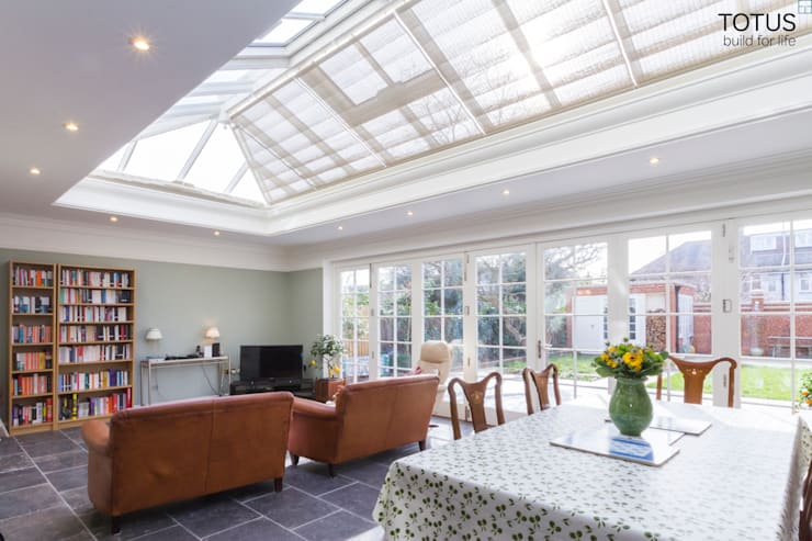 House extension and transformation, Wandsworth SW18:  Dining room by TOTUS