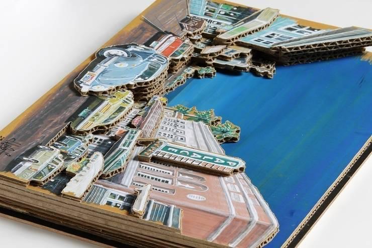 ダンボールアート・ハワイ: ヒロ・デザイン・ラボが手掛けたアートです。