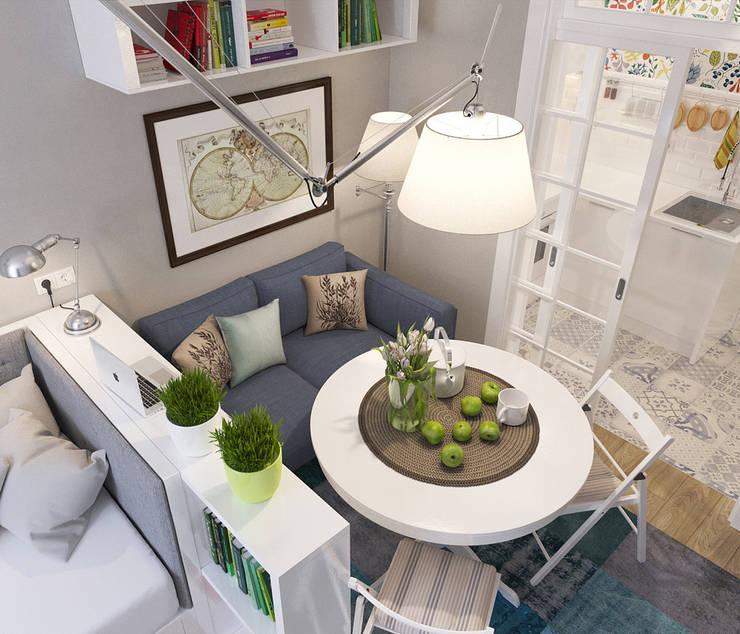 Living room by цуккини, Scandinavian