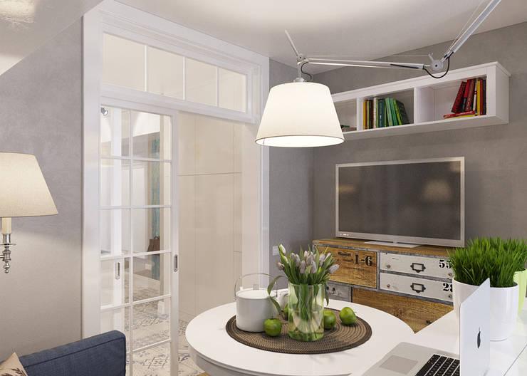 студия 25 м. дизайнер: Никита ЗУБ: Гостиная в . Автор – цуккини