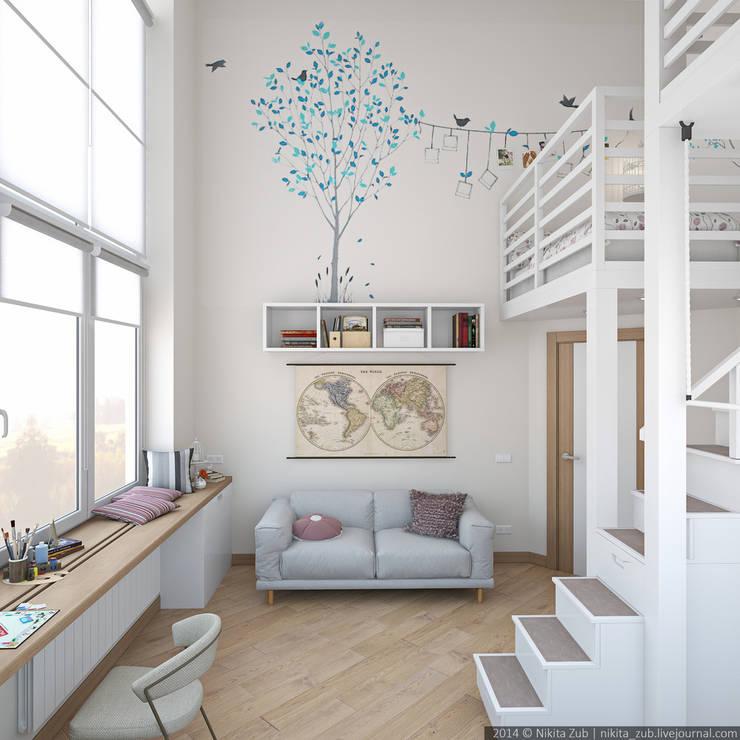 Dormitorios infantiles de estilo moderno de цуккини
