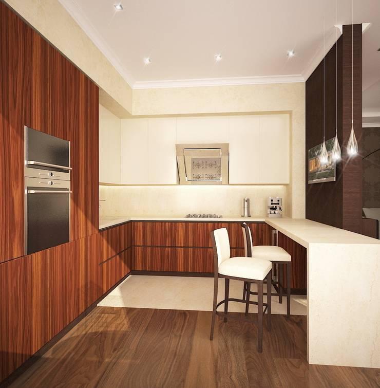 квартира на Удальцова: Кухни в . Автор – ООО 'Студио-ТА', Классический
