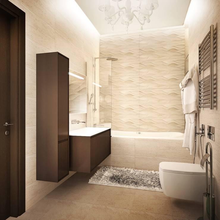 квартира на Удальцова: Ванные комнаты в . Автор – ООО 'Студио-ТА', Классический