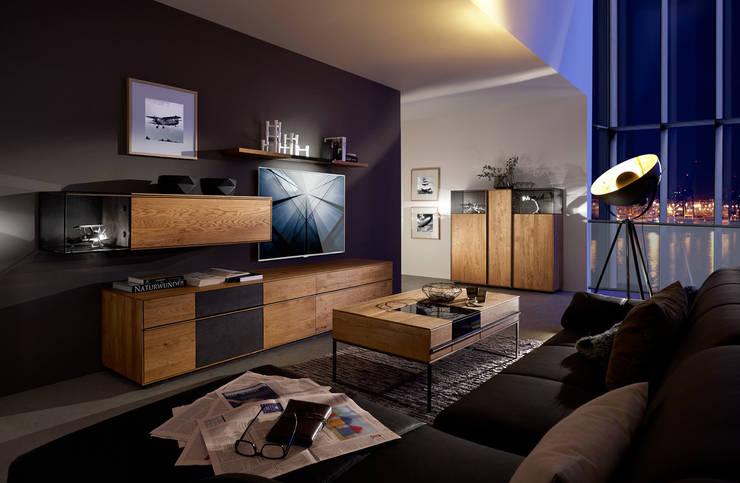 TERSO - Moderner Lifestyle ohne Kompromisse.:  Wohnzimmer von Wimmer Wohnkollektionen GmbH