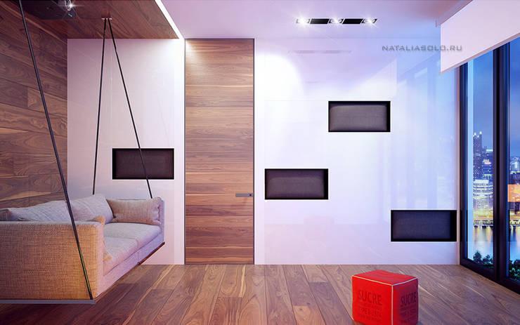 Городской минимализм: Гостиная в . Автор – Natalia Solo Design