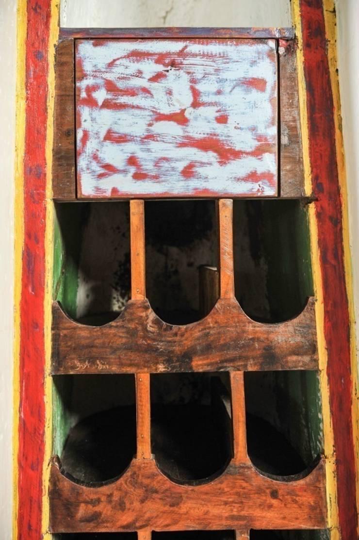 Recycled / WINE BOAT: Винный погреб в . Автор – WOODSTONEBALI