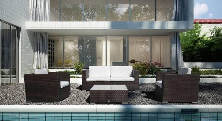 Set divani in rattan da giardino Saturno: Giardino in stile  di LuxuryGarden.it